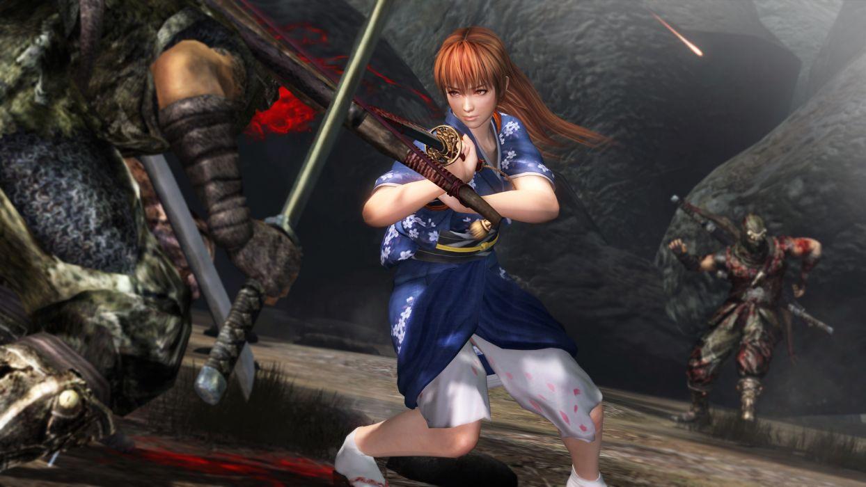 NINJA GAIDEN fantasy anime warrior weapon sword blood    d wallpaper