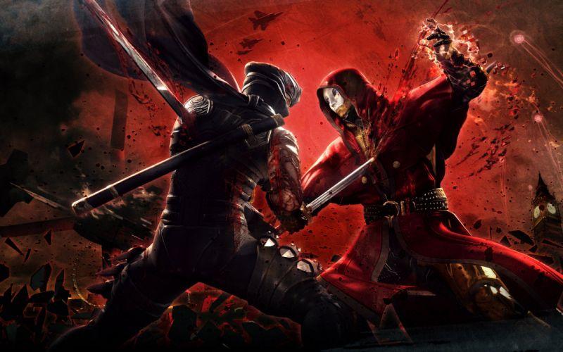 NINJA GAIDEN fantasy anime warrior weapon sword blood battle g wallpaper