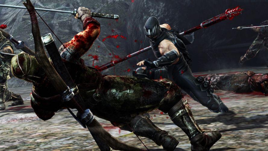 NINJA GAIDEN fantasy anime warrior weapon sword blood battle f wallpaper