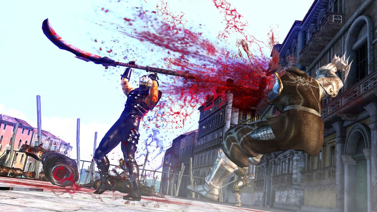NINJA GAIDEN fantasy anime warrior weapon sword blood battle  gt wallpaper