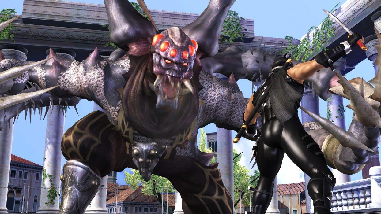 NINJA GAIDEN fantasy anime warrior weapon sword blood battle monster     d wallpaper