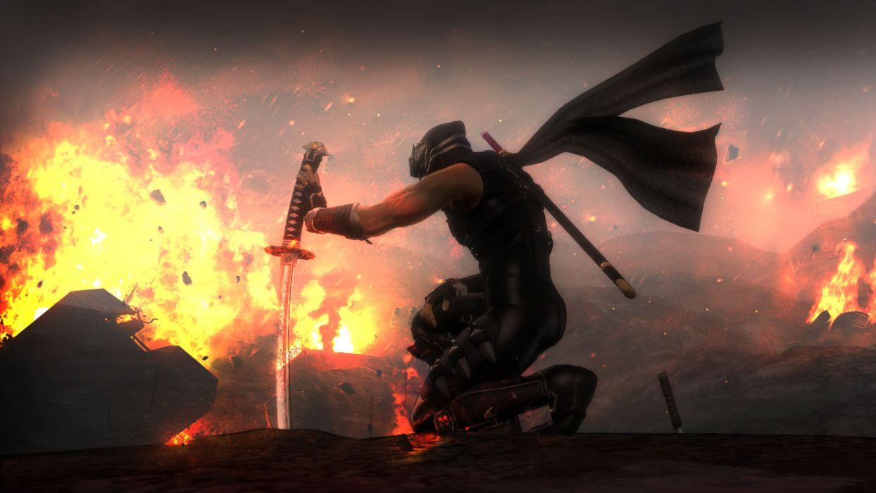 NINJA GAIDEN fantasy anime warrior weapon sword fire      h wallpaper