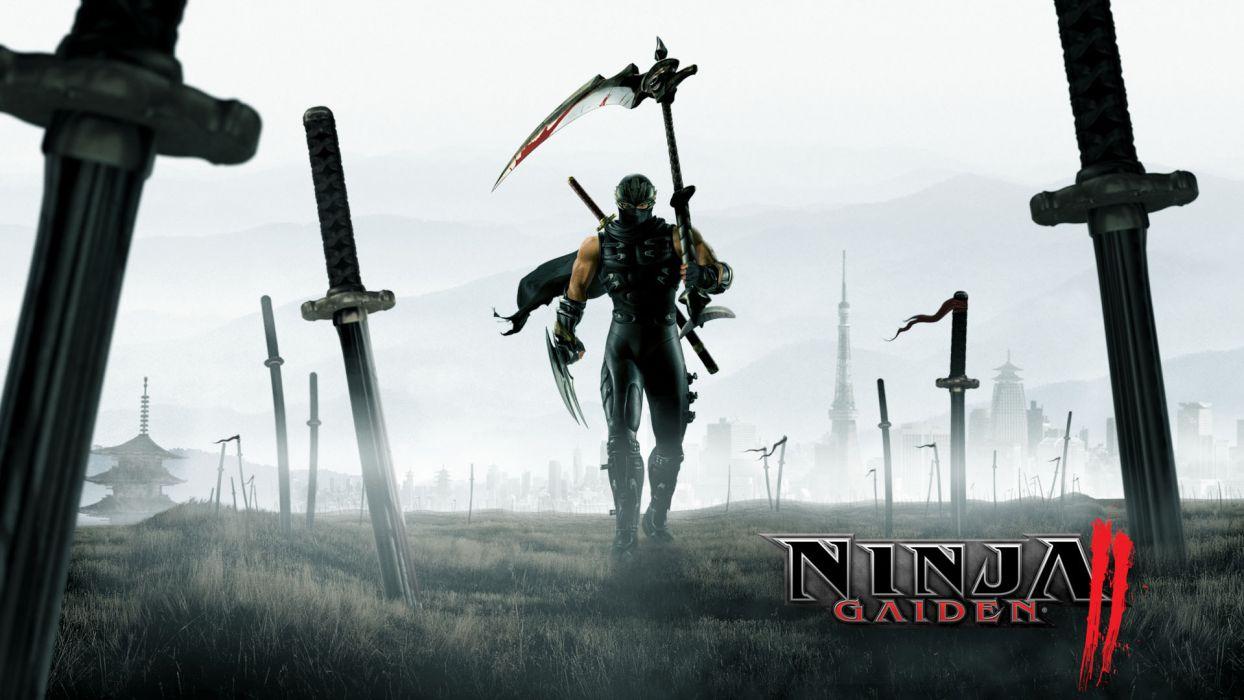 NINJA GAIDEN fantasy anime warrior weapon sword poster          h wallpaper