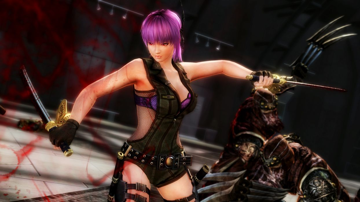 NINJA GAIDEN fantasy anime warrior weapon sword sexy babe    f_JPG wallpaper