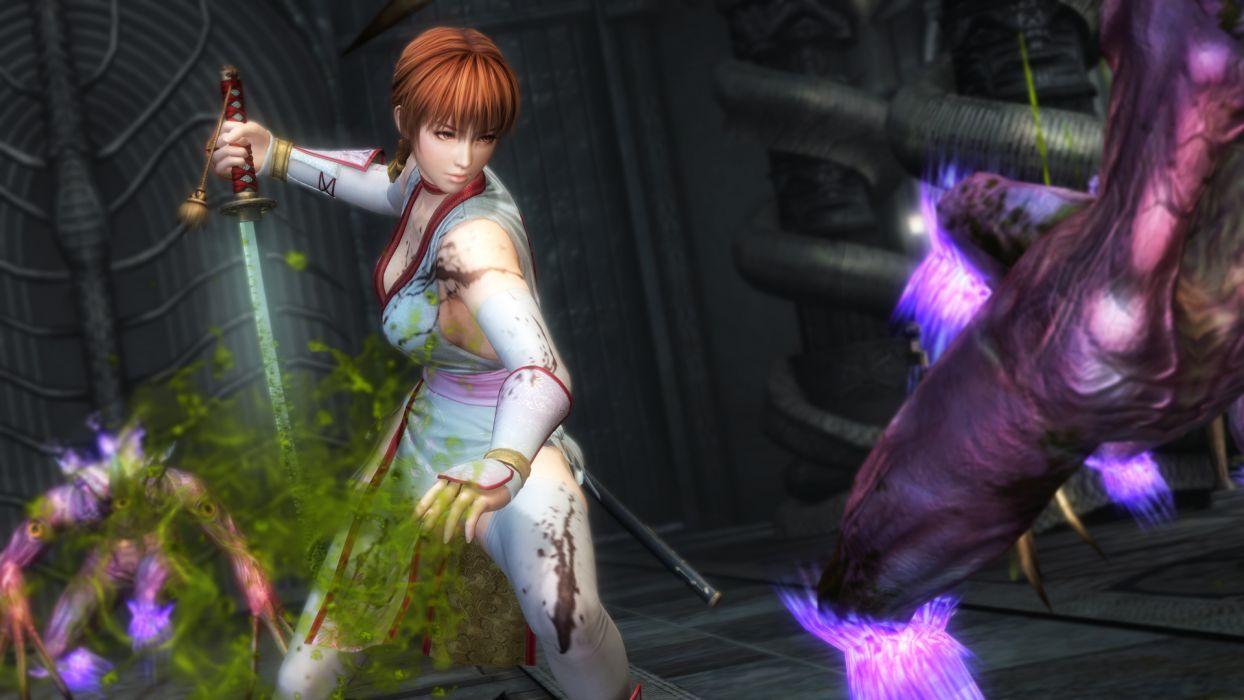NINJA GAIDEN fantasy anime warrior weapon sword sexy babe   d wallpaper