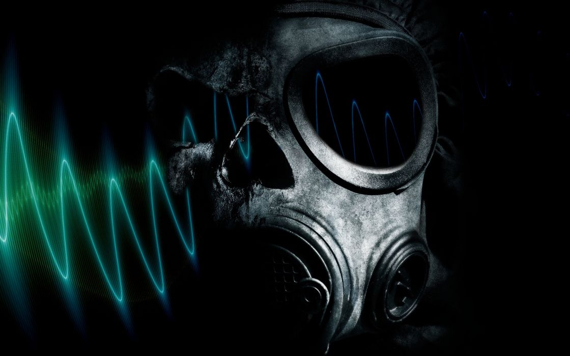 horror gas masks wallpaper