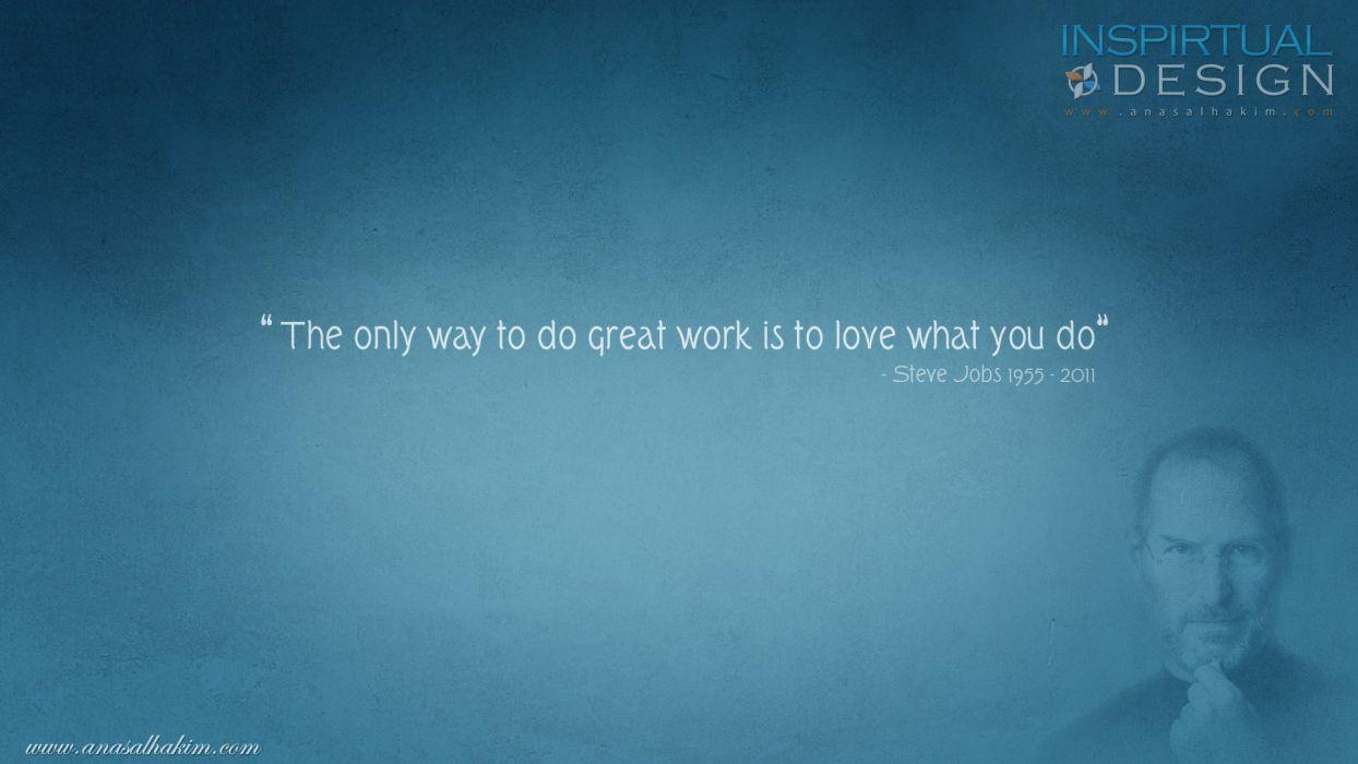 quotes inspirational phrase motivation sentence sayings Steven Jobs word Citation  wallpaper