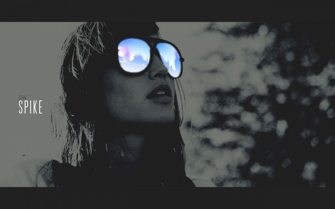 women glasses photo manipulation Dreaming crow spike concept  wallpaper