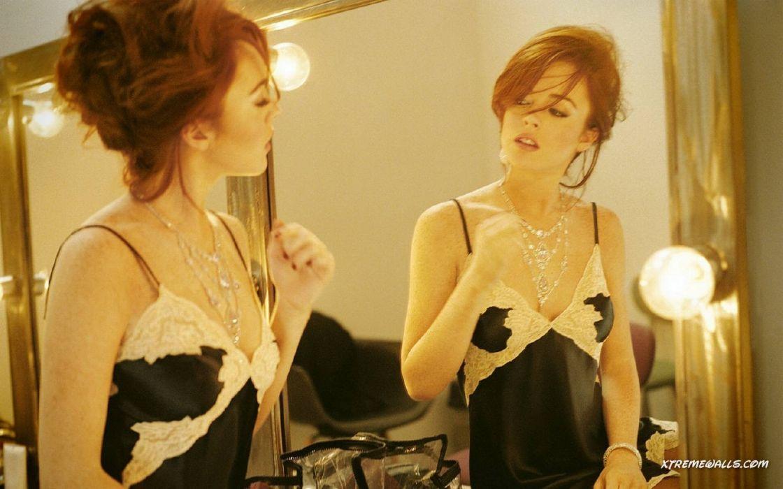 women Lindsay Lohan wallpaper