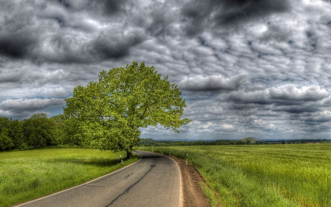 roads HDR photography wallpaper