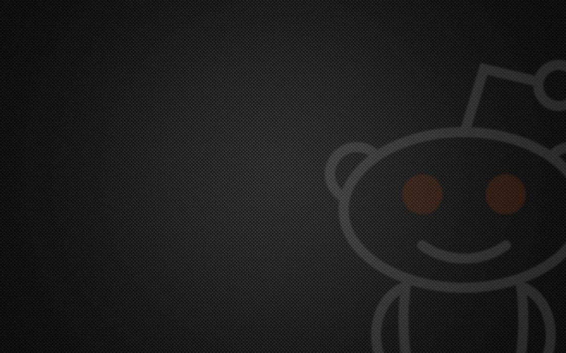 Reddit Alien grey background carbon wallpaper