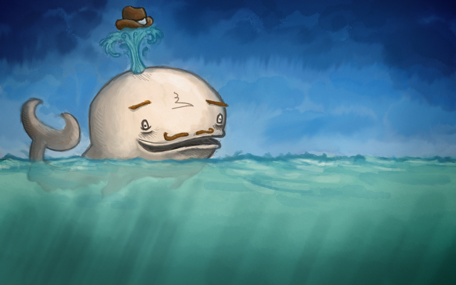 Water Animals Fail Funny Whales Moustache Artwork Drawings Hats