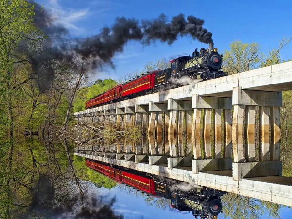 nature trains bridges wallpaper