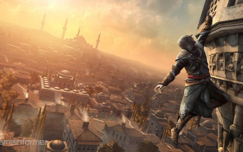 video games climbing Assassins Creed cityscapes Istanbul wallpaper