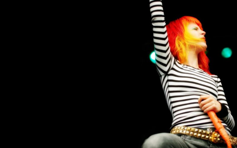 Hayley Williams Paramore women music celebrity singers simple background black background wallpaper