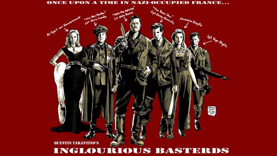 movies Quentin Tarantino fan art Inglourious Basterds wallpaper