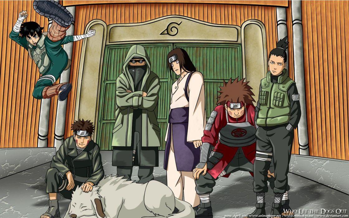 Naruto: Shippuden Shikamaru Nara anime manga Rock Lee Hyuuga Neji Choji Akimichi Akamaru Aburame Shino Kiba Inuzuka wallpaper