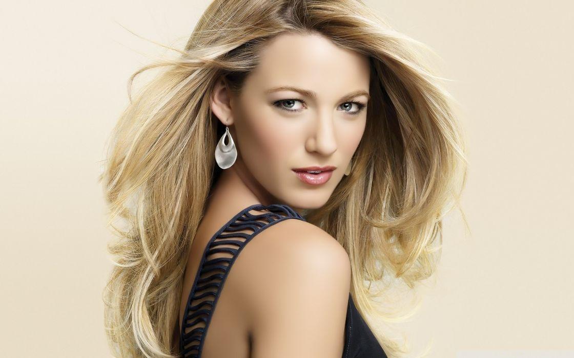 blondes women actress Blake Lively models wallpaper