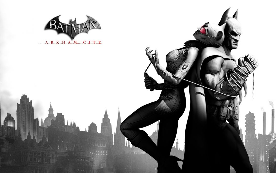 video games Catwoman artwork Arkham City Batman Arkham City games wallpaper