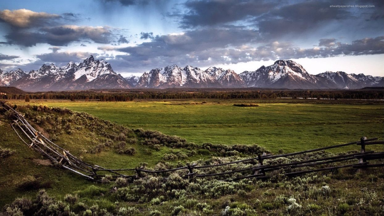 mountains plains wallpaper