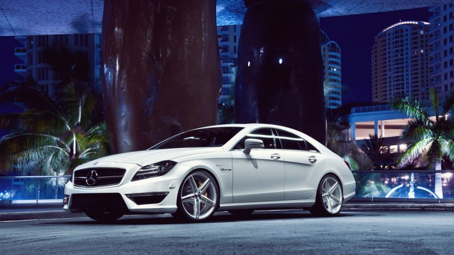 Night Cars Vehicles Automotive Mercedes Benz Cls63 Amg