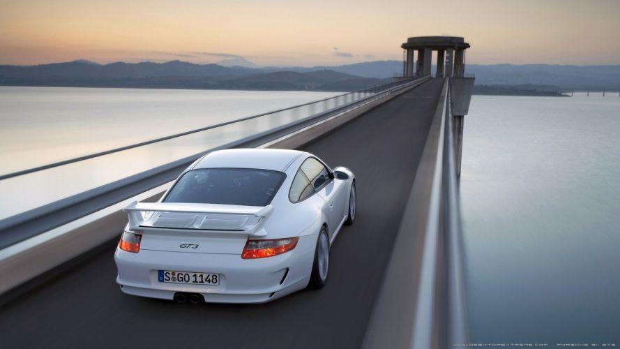 water cars bridges roads Porsche 911 GT3 wallpaper