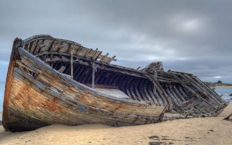 ships wrecks beaches wallpaper