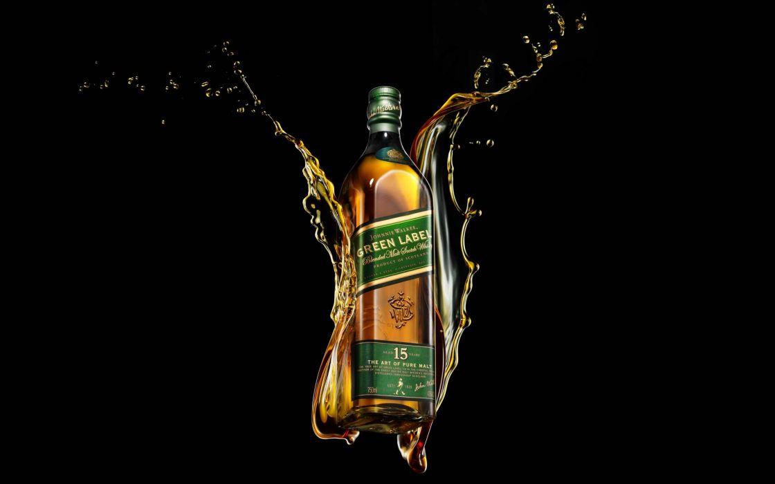 alcohol whiskey liquor Johnnie Walker scotch wallpaper