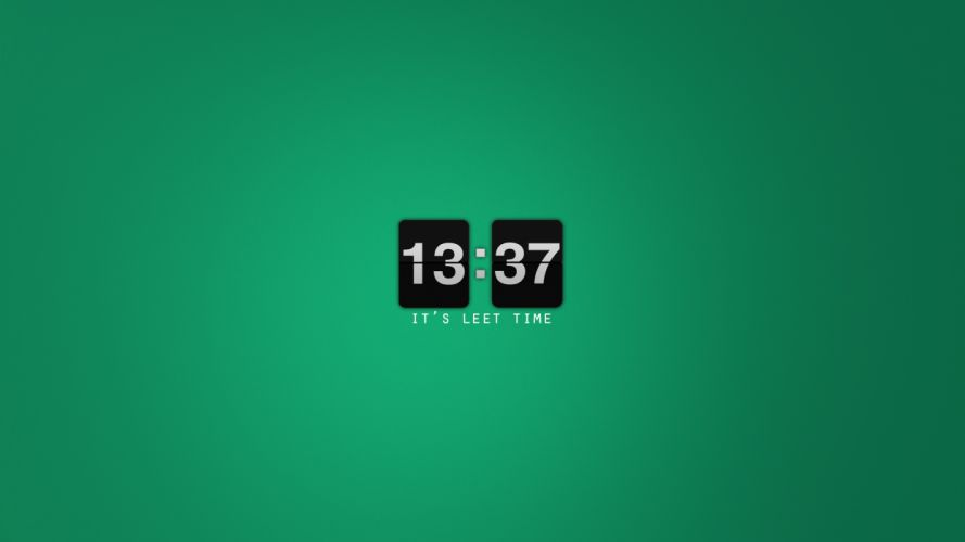 minimalistic clocks l33t wallpaper