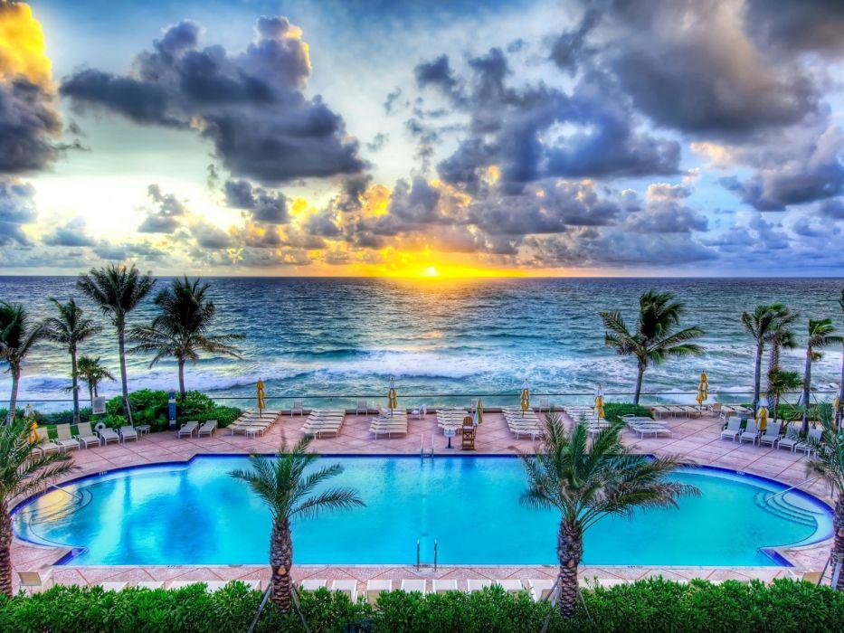 nature party Florida swimming pools wallpaper