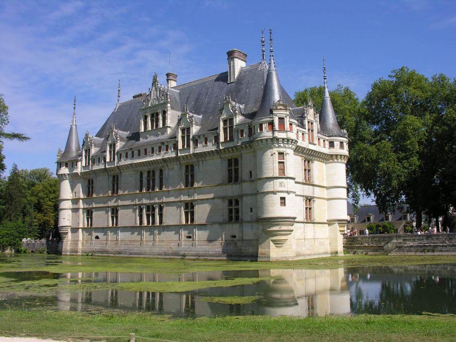 France Loire Valley Castles Azay le Rideau wallpaper