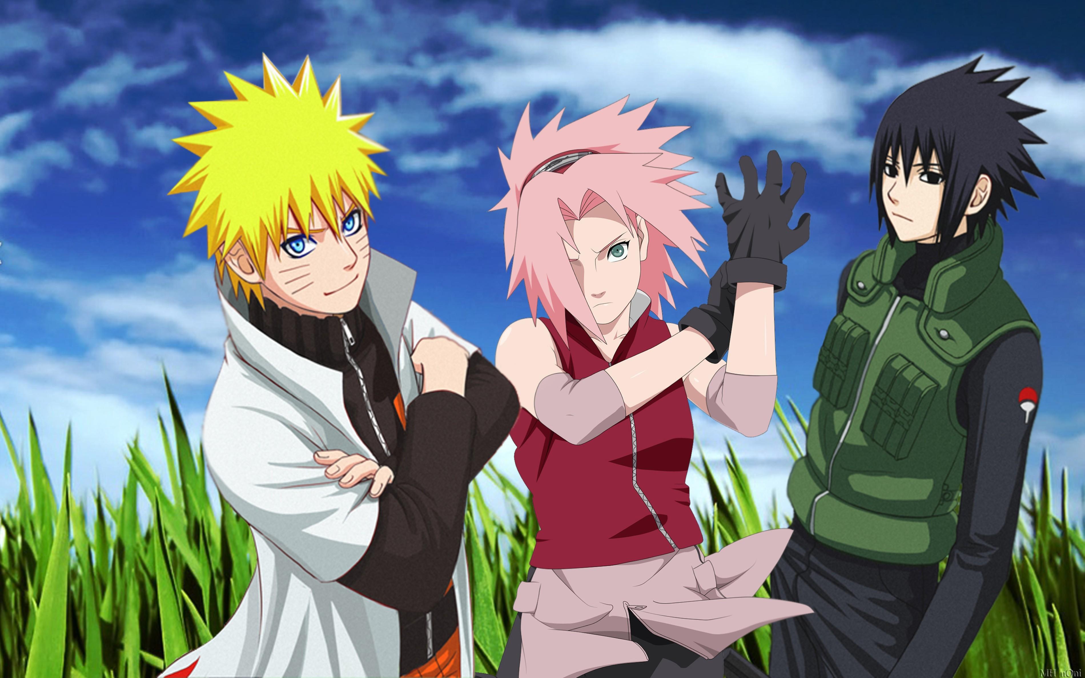 Sakura Uchiha Sasuke Naruto: Shippuden Uzumaki Naruto Hokage wallpaper