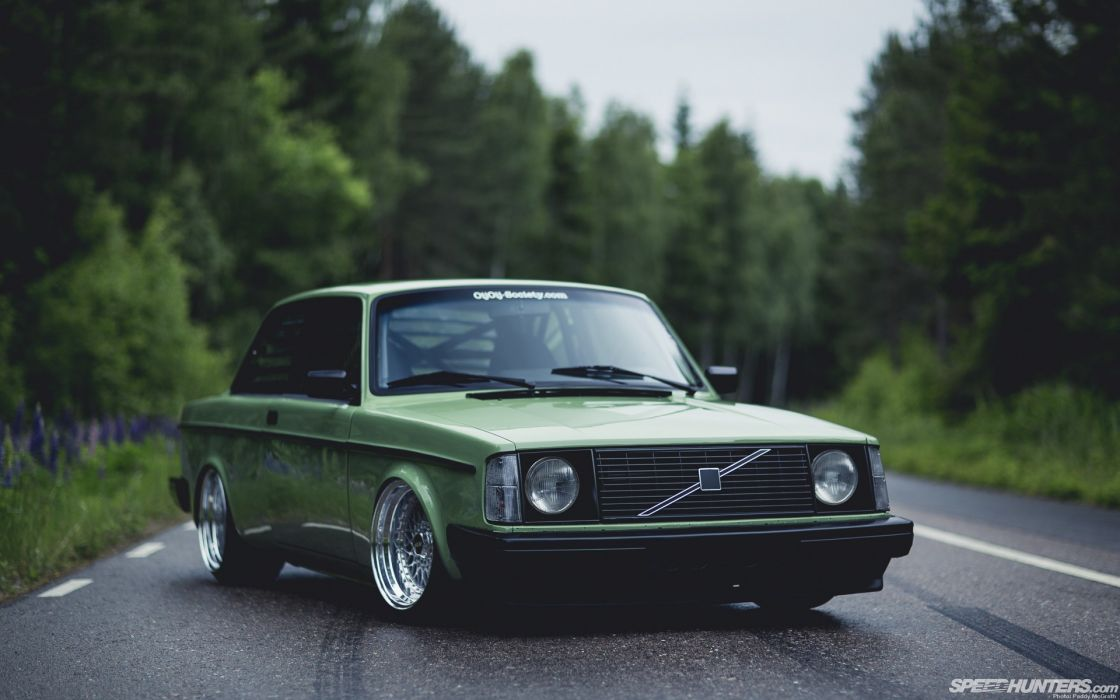 trees old cars Volvo outdoors roads tuning Volvo 242 wallpaper