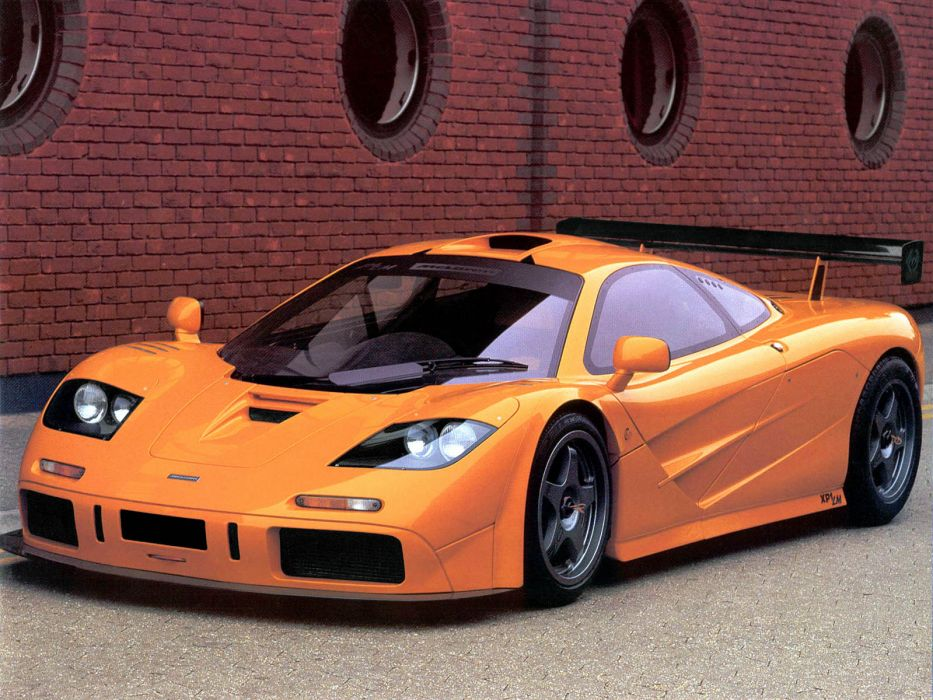 cars vehicles supercars McLaren F1 McLaren McLaren F1 LM collectors side view orange cars front angle view wallpaper