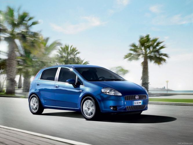 blue Fiat wallpaper