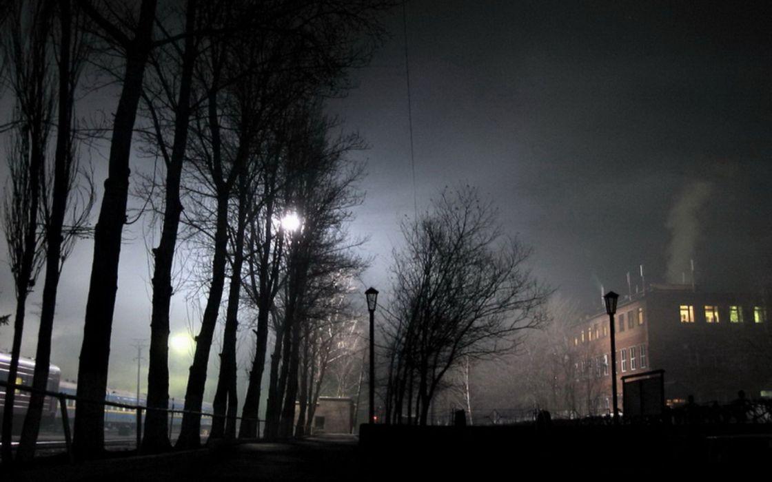 dark night trains vehicles wallpaper