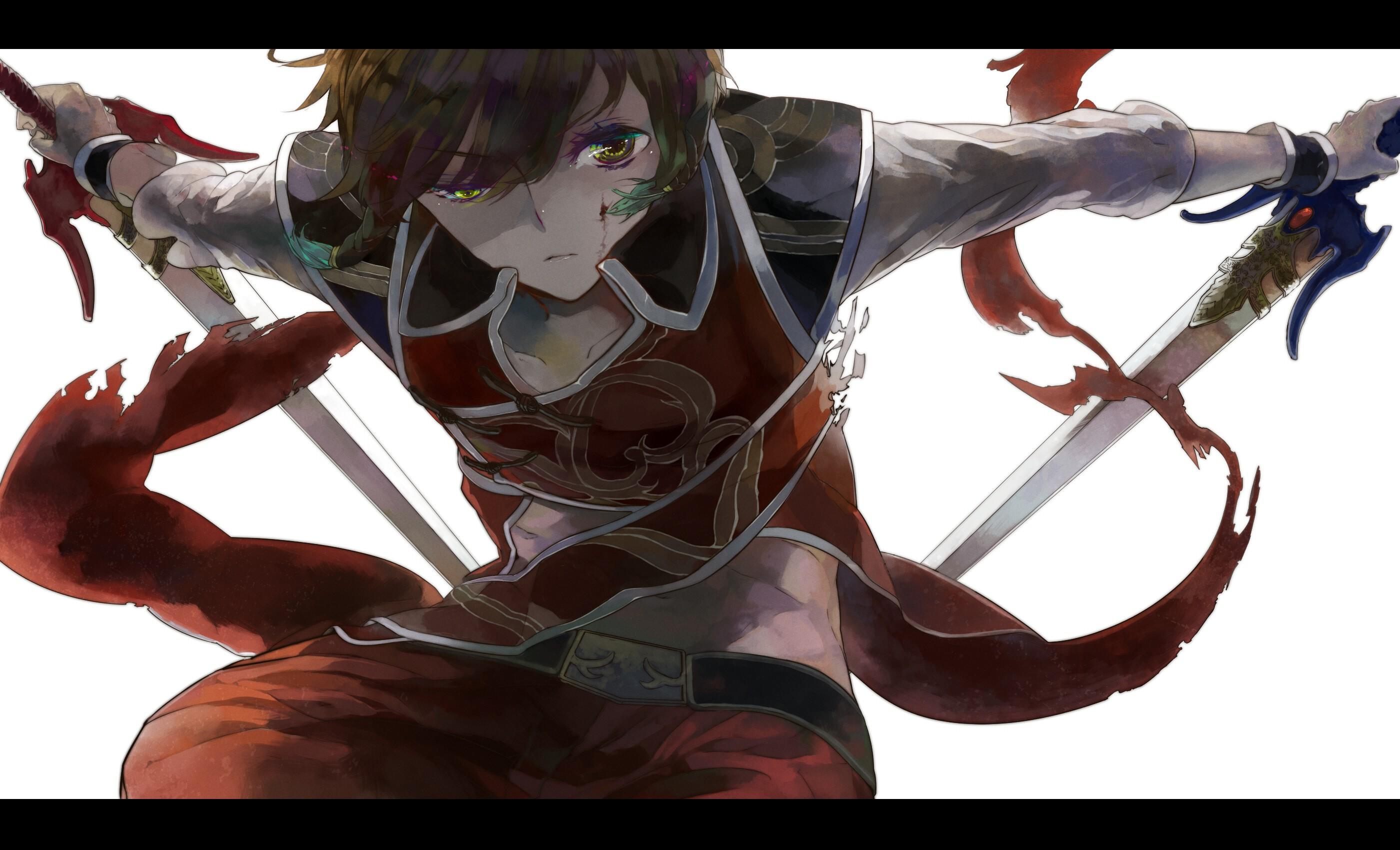 Anime Boys Swords Wallpaper 2800x1700 213029 Wallpaperup