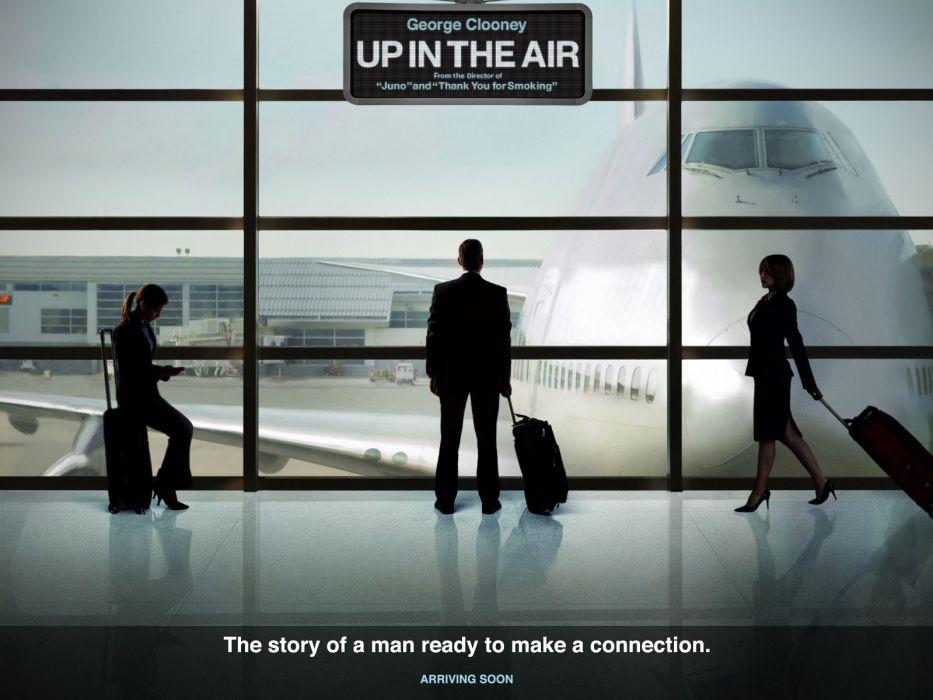 Anna Kendrick Vera Farmiga George Clooney Up In The Air (movie) wallpaper