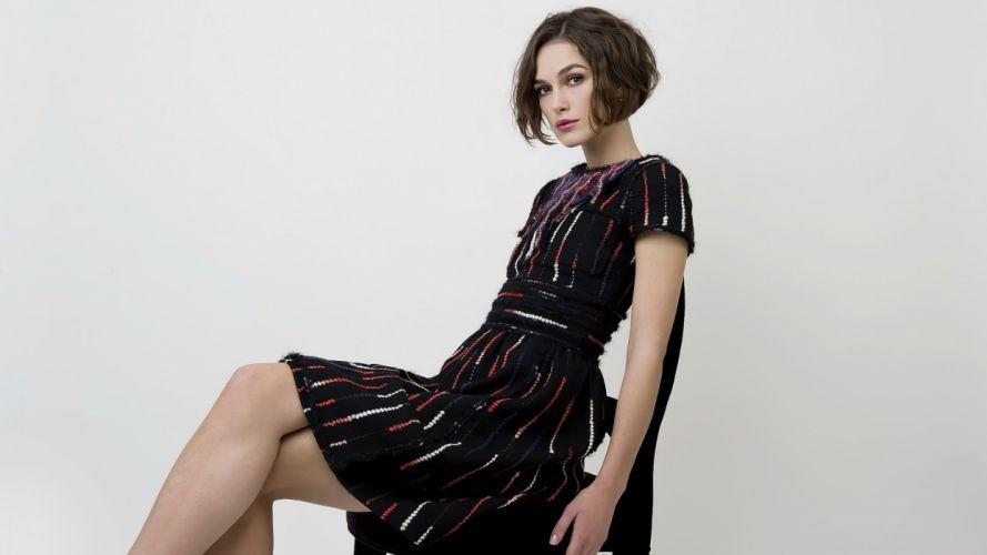 brunettes women dress Keira Knightley celebrity brown eyes wallpaper
