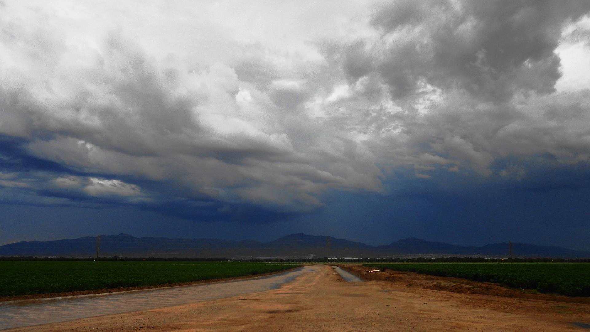 Clouds Nature DeviantART Roads Wallpaper