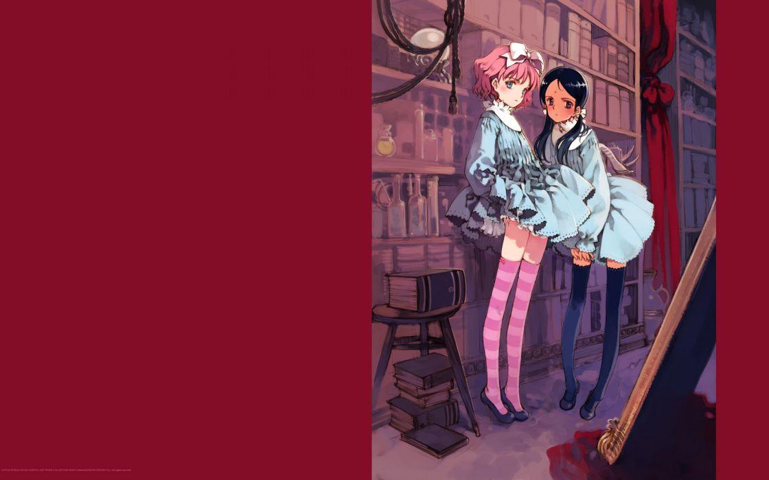 library thigh highs Oyari Ashito wallpaper