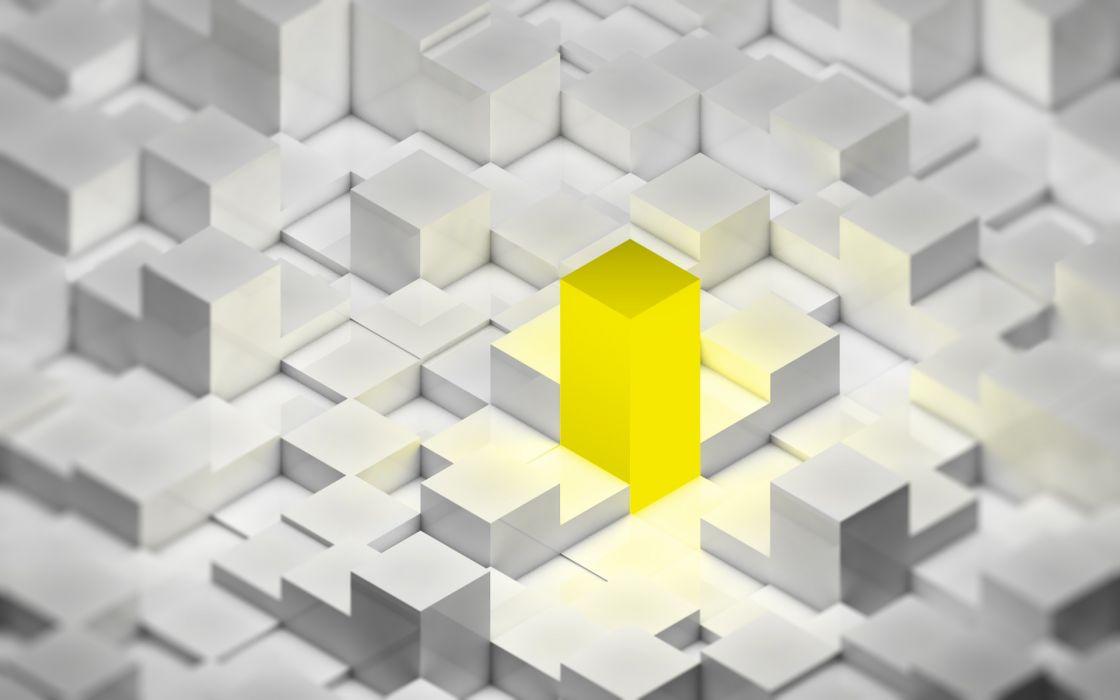 yellow cubes wallpaper