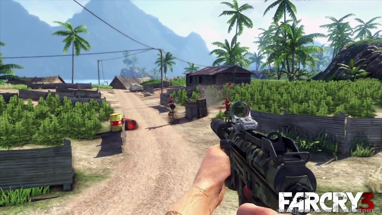 light video games Far Cry backgrounds smg Far Cry 3 wallpaper