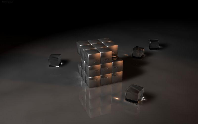 3D view cubes wallpaper