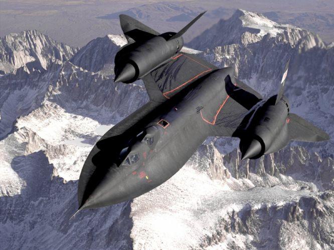 mountains aircraft military SR-71 Blackbird wallpaper