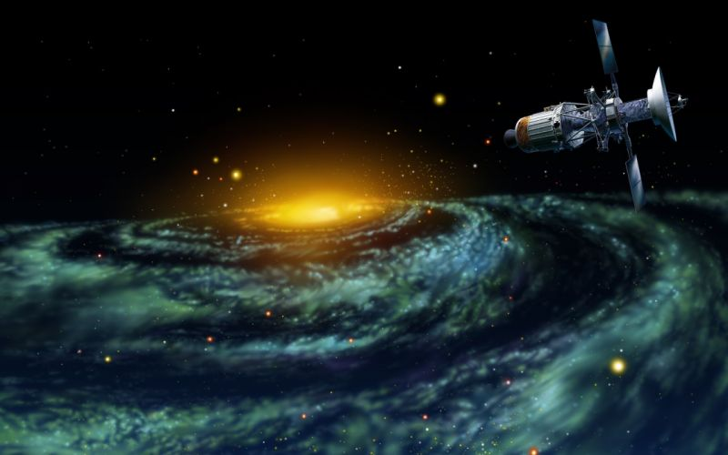 fantasy outer space space space probes wallpaper