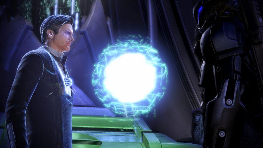 video games Mass Effect Illusive Man Mass Effect 3 Commander Shepard wallpaper