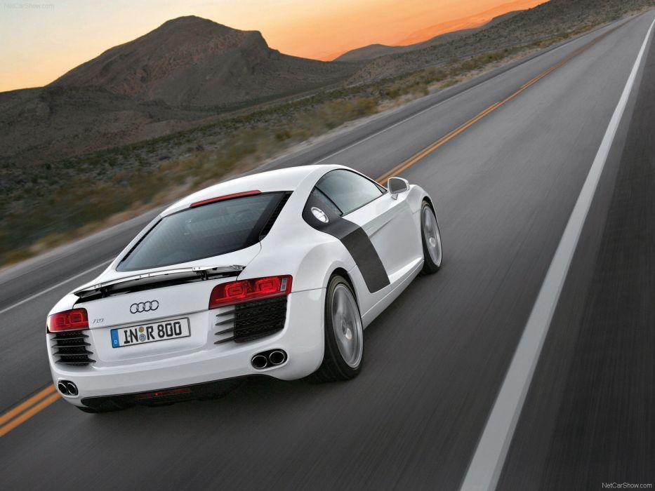 cars Audi R8 white cars wallpaper