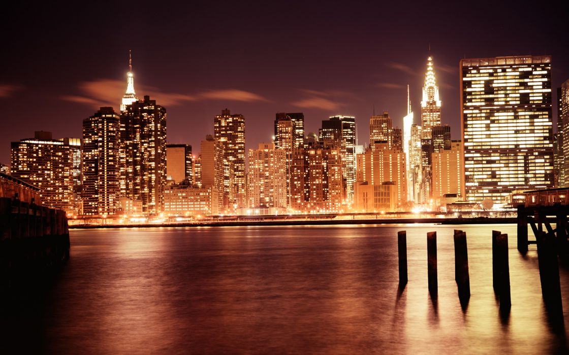 New York City skyscrapers city lights city skyline cities wallpaper