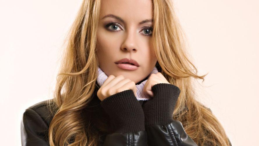 blondes women blue eyes models faces turtleneck wallpaper